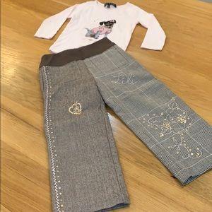 Lili Gaufrette 😍My Dog L-Sleeve Shirt Pants Set 4